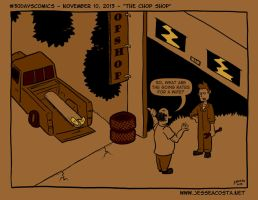 30 Days Comic Challenge Day 10 Chop Shop by JesseAcosta