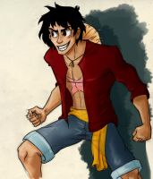 FANART. Luffy D. Monkey One piece by bartizma