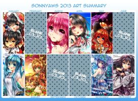 2013 art summary by sonnyaws