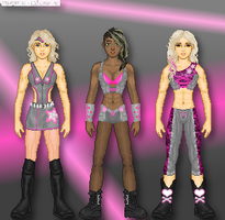 My WWE: Team Pin-Up Strong by TerenceTheTerrible