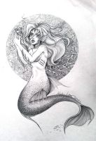 Siren? or mermaid? O.o by KitDesertOfFate27