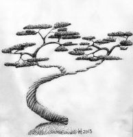 Pen and Ink Tree by ManlickerStocks