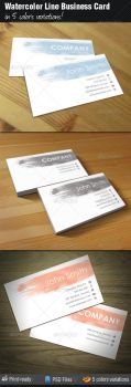 Watercolor Line Business Card by madebygb