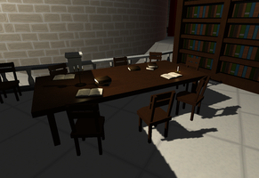 Sworn - Library Table by EvandroLoss