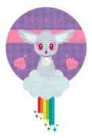 Chibi Fursona for Stephy_Monster ::PCOMM:: by Itachi-Roxas