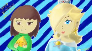 Michi,Luma,and Rosalina by BNAGalaxyWarrior