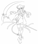 Lineart Commission: Mew by AkiGlancy