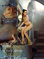Daisy Ridley as Rey - Jabba's Slave by DrVillain