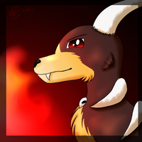 Houndoom headshot by eevee4everX3