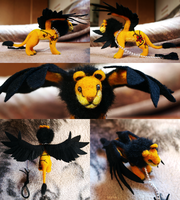 Commission - A Flying Lion by kr1st1naa