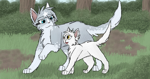 Dawnstar and Frostpaw by CascadingSerenity