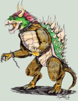 Realistic Bowser by Fregatto