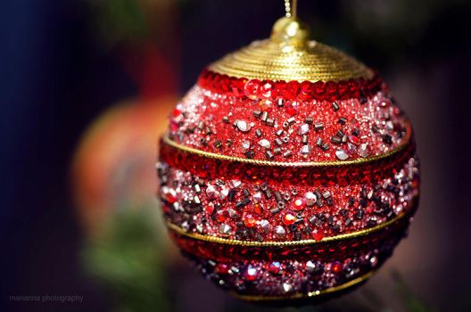 Christmas ornament ii by mariannaphotography