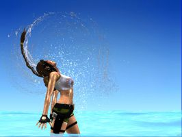 pacific coasts Lara Croft  tropic lagoon dive IV by 7ipper