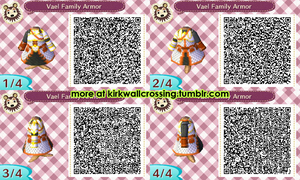 ACNL Vael Family Armor by meglish