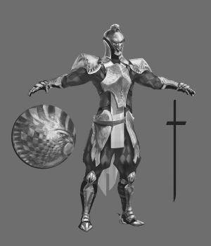 Falcon knight WIP -2 by AnDary