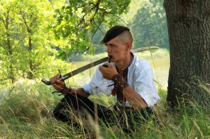 resting Cossack by HeyAnka