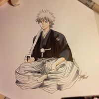 Gintama- Gintoki Exercise by SaraMangaka