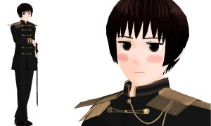 MMD Japan Black Uniform by Aisuchuu