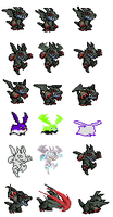 Devidramon Sprites by Ferzin-the-hedgehog
