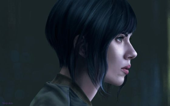 Ghost in the Shell Drawing by Toniji-Arts