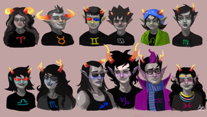 Homestuck: Troll Head-canon by azamanart