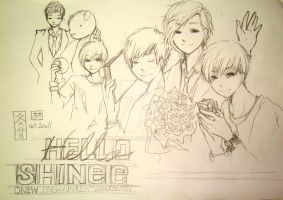 Sketch - SHINee - Hello by xxxsai