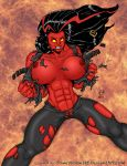 Red She-Hulk Busts Out by powerbook125