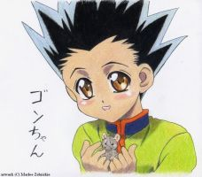 Gon with Mouse by Kikane