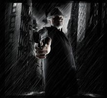 Gangster in the rain by Danwhitedesigns