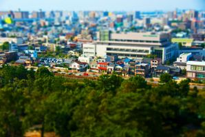 Nagoya City Tilt-Shift by chinotenshi