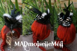 New Skull Fascinator 001 by MADmoiselleMeli