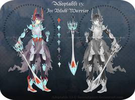 [CLOSED] Adoptable 13: Ice Blood Warrior by Staccatos
