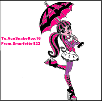 Draculaura for AceSnakeRox16. by Smurfette123