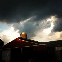 Clouds, barns, and Silo. by LunaPicture