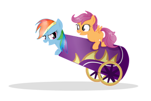 RainbowDash and Scoots. by Balloons504