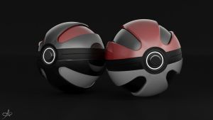 Concept Pokeballs by AndreiPriss