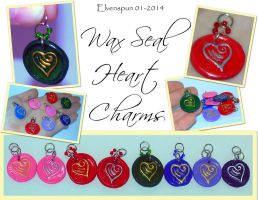 Wax Seal Heart Charms  by MalaCembra