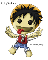 Luffy Sackboy by louisalulu