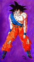 Battle Damaged Goku by Jaylastar