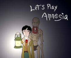 Let's Play Amnesia art cover by Agent-Sarah