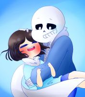Me and Sans ( but not romantically ) by Rayreid