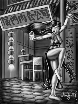 Uncolored Street Fighter V Chun Li Dress by MarioUComics