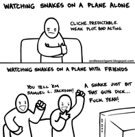 Snakes on a Plane by endlessorigami