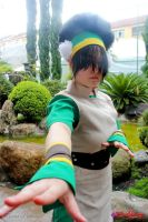 Toph in fight position! by SayuriChann