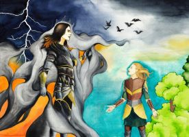 Finrod vs. Sauron by RobleskaZeppelin