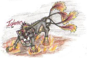 Battle Wolf Contest - Inferno by Tigz-Moonlight