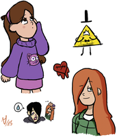 Gravity Falls doodles 1 by thalle-my-honey