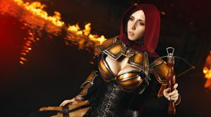 Demon Hunter in the flames by Stephanie-van-Rijn