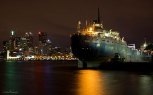 Great Lakes Freighter by GreyVolk